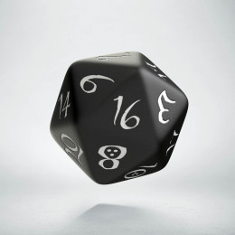 D20 Classic Black & white Die (1)