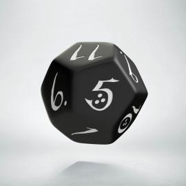 D12 Classic Black & white Die (1)