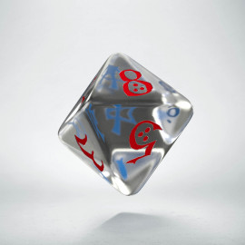 D8 Classic Translucent Blue & red Die (1)