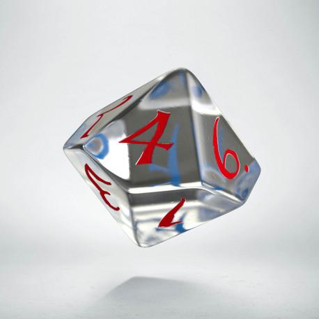 K10 Klasyczna Przejrzysto-niebiesko-czerwona