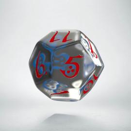 K12 Klasyczna Przejrzysto-niebiesko-czerwona