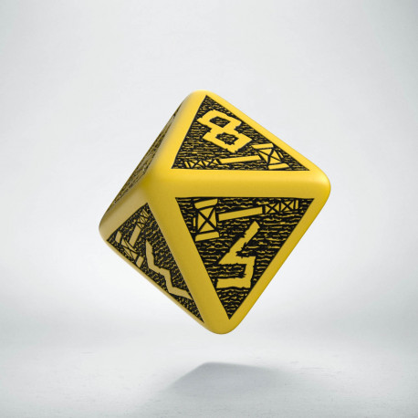 D8 Dwarven Yellow & black Die