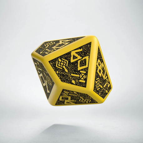 D100 Dwarven Yellow & black Die