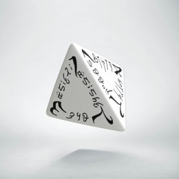 D4 Elvish White & black Die (1)