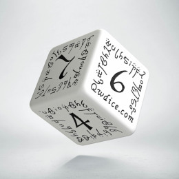D6 Elvish White & black Die (1)
