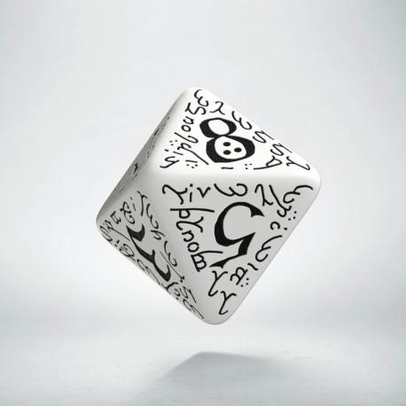 D8 Elvish White & black Die