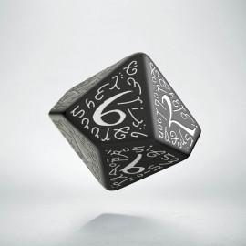 D10 Elvish Black & white Die (1)