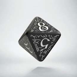 D8 Elvish Black & white Die (1)