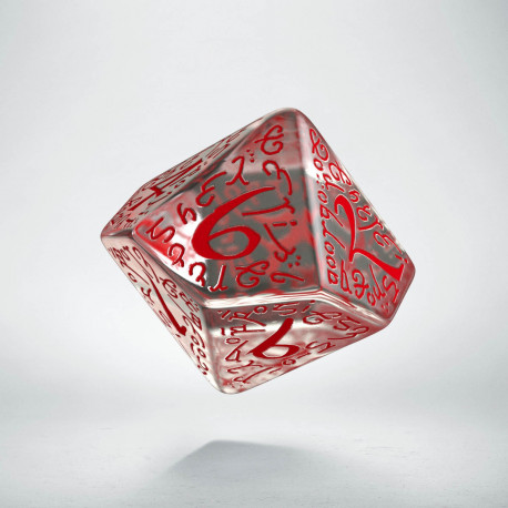 D10 Elvish Translucent & red Die