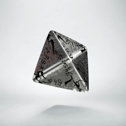D4 Elvish Translucent & black Die (1)