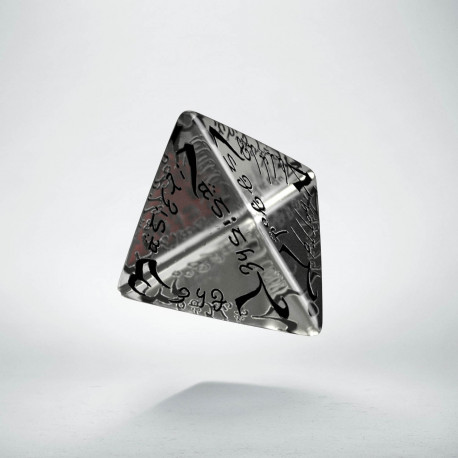D4 Elvish Translucent & black Die