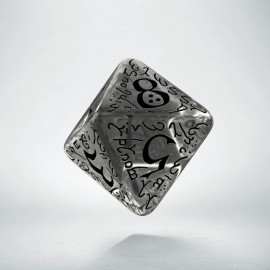 D8 Elvish Translucent & black Die