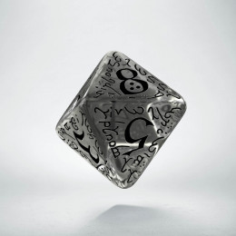 D8 Elvish Translucent & black Die (1)