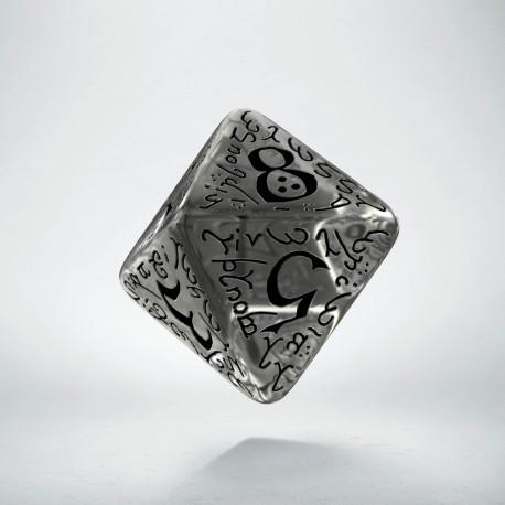 D8 Elvish Translucent & black Die