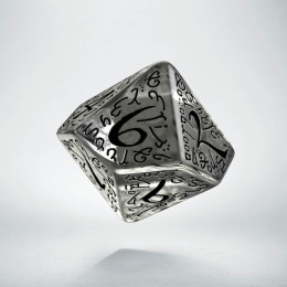 D10 Elvish Translucent & black Die (1)