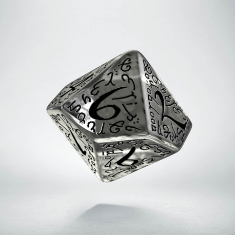 D10 Elvish Translucent & black Die