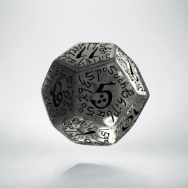 D12 Elvish Translucent & black Die (1)