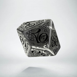 D100 Elvish Translucent & black Die (1)