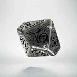 D100 Elvish Translucent & black Die (1)