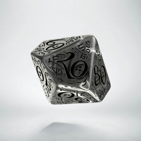 D100 Elvish Translucent & black Die