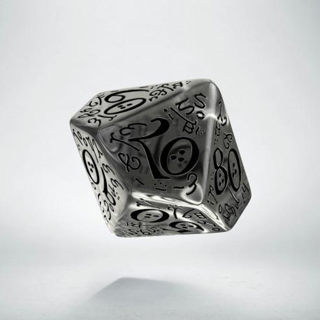 D100 Elvish Translucent & black Die