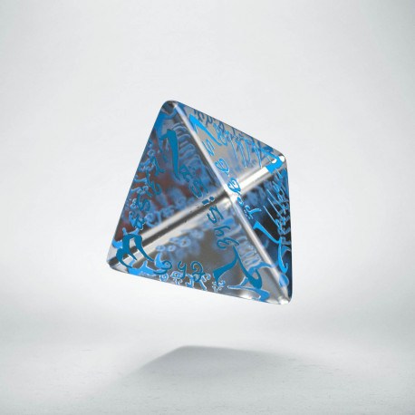 D4 Elvish Translucent & blue Die
