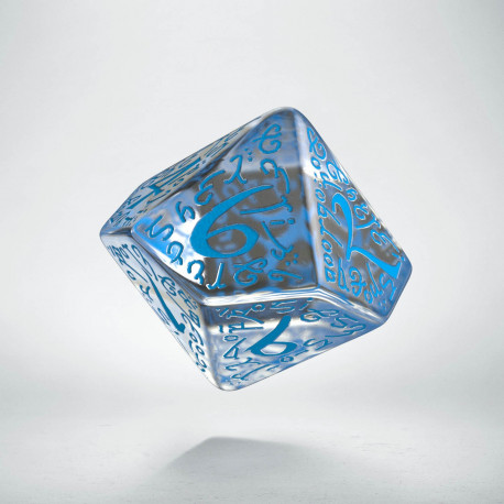 D10 Elvish Translucent & blue Die