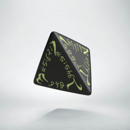 D4 Elvish Black & glow-in-the-dark Die (1)