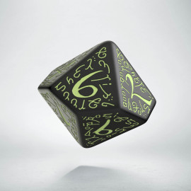 D10 Elvish Black & glow-in-the-dark Die