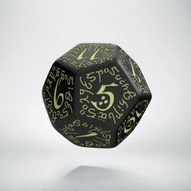 D12 Elvish Black & glow-in-the-dark Die