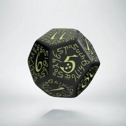 D12 Elvish Black & glow-in-the-dark Die (1)