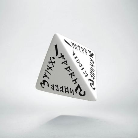 D4 Runic White & black Die