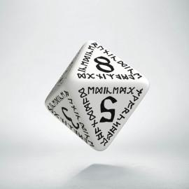 D8 Runic White & black Die