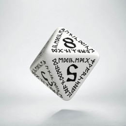 D8 Runic White & black Die (1)