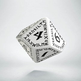 D10 Runic White & black Die (1)