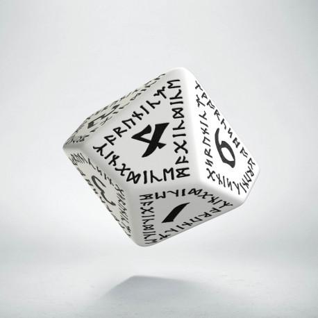 D10 Runic White & black Die