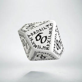 D100 Runic White & black Die