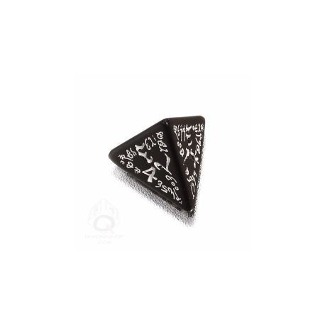 D4 Elvish Black & white Die (1)