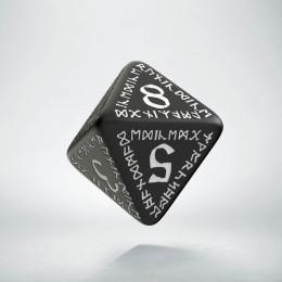 D8 Runic Black & white Die (1)