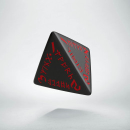 D4 Runic Black & red Die (1)