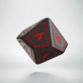 D10 Runic Black & red Die (1)