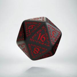 D20 Runic Black & red Die (1)