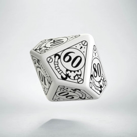 D100 Steampunk White & black Die (1)