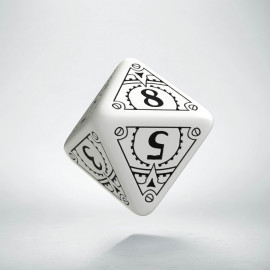 D8 Steampunk White & black Die (1)