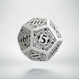 D12 Steampunk White & black Die (1)