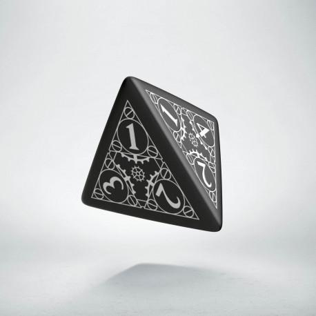 D4 Steampunk Black & white Die