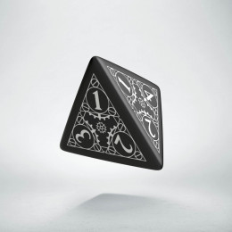 D4 Steampunk Black & white Die (1)