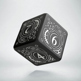 D6 Steampunk Black & white Die (1)