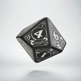 D10 Steampunk Black & white Die (1)