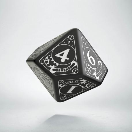 D10 Steampunk Black & white Die